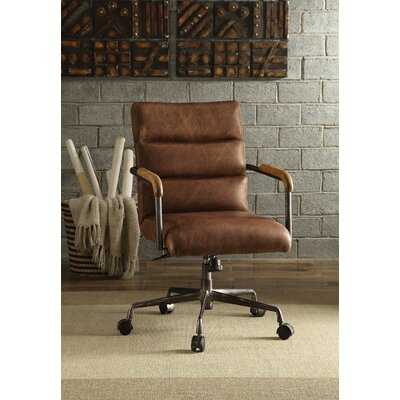 Top Grain Leather Executive Office Chair In Antique Slate - Wayfair