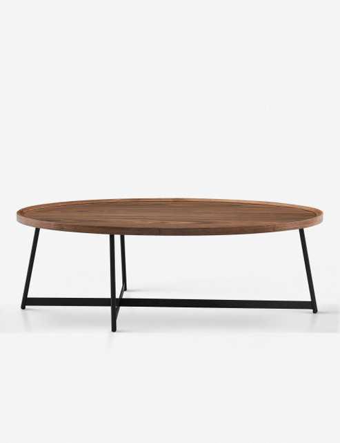 Gweneth Oval Coffee Table, Walnut - Lulu and Georgia
