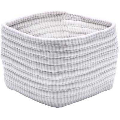 Ticking Shelf Square Basket - Wayfair