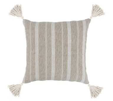 """Cash Pillow Cover, 22"""" x 22"""", Natural - Pottery Barn"""
