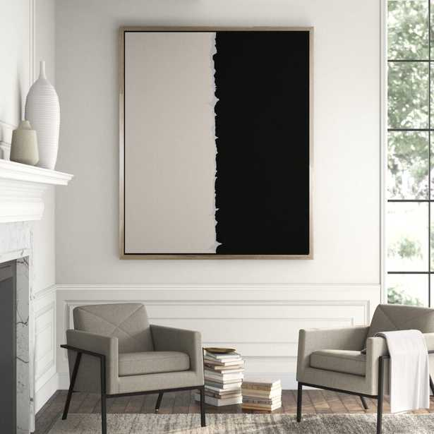CHC Art, Inc. 'Torn' - Floater Frame Painting Print on Canvas - Perigold