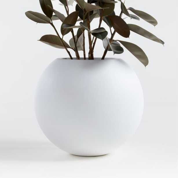 Sphere Small White Planter - Crate and Barrel