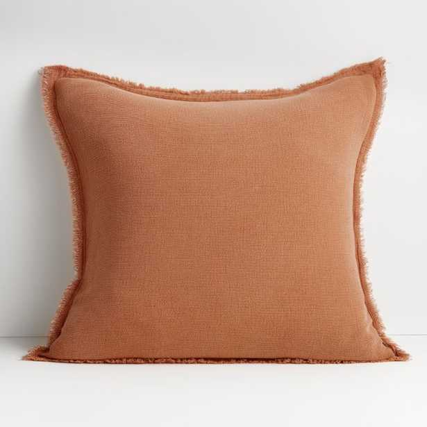 """Olind 23"""" Clay Pillow with Feather-Down Insert - Crate and Barrel"""