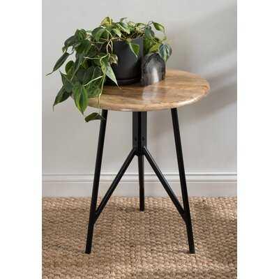Eklund Round Wood Side Table 18X18x22 Natural - Wayfair
