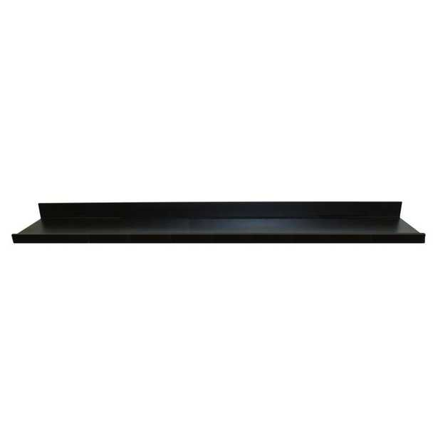72 in. W x 4.5 in. D x 3.5 in. H Black MDF Large Picture Ledge Floating Wall Shelf - Home Depot