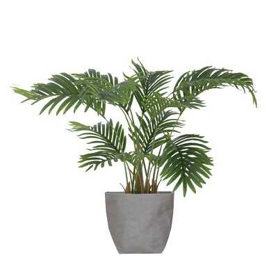 """Primrue Artificial Faux 30"""" Tall Palm Tree With Eco Planter - Wayfair"""