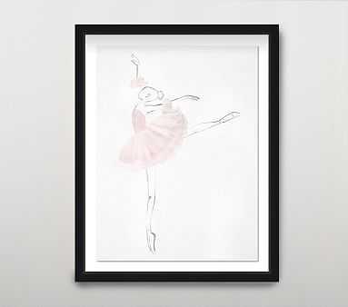 La Ballerina II Wall Art, Blush - Pottery Barn Kids