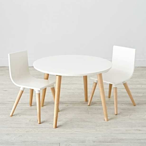 Pint Sized White Toddler Table and Chair Set - Crate and Barrel