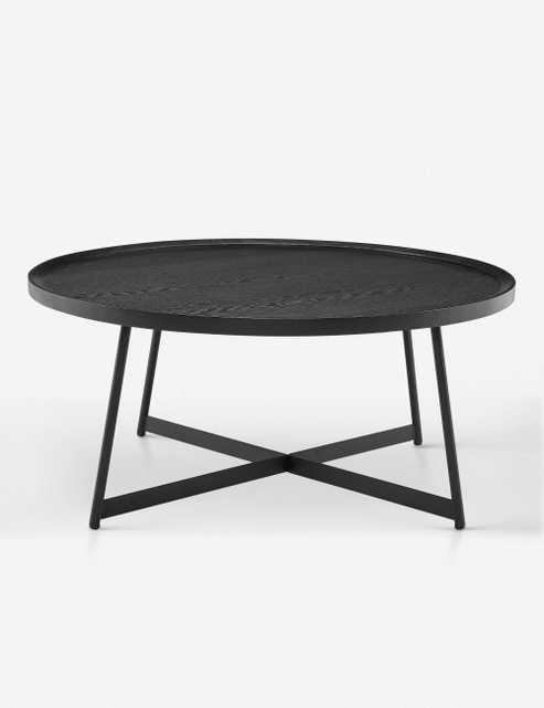 Gweneth Round Coffee Table, Black Ash - Lulu and Georgia