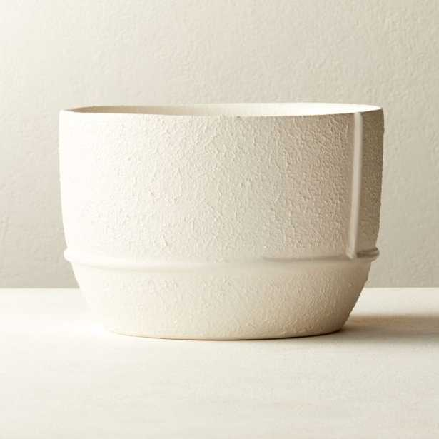 Theory Large White Textured Planter - CB2
