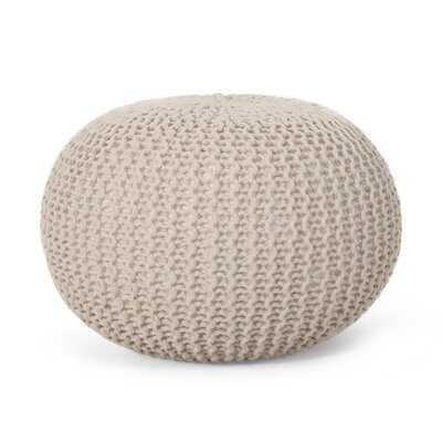 Giraldo Mabery Knitted Pouf - Wayfair
