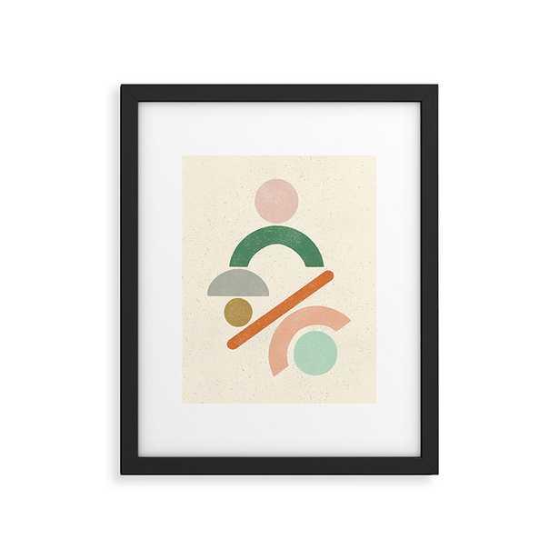 "Mobile Shapes by Pauline Stanley - Modern Framed Art Print Black 24"" x 36"" - Wander Print Co."