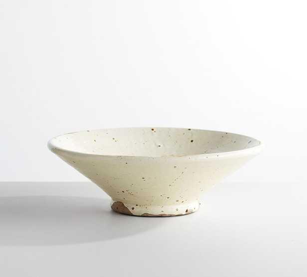 """Terra Cotta Speckled Vase, White, Bowl, 5""""H - Pottery Barn"""