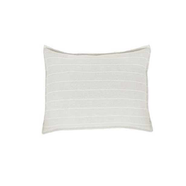 Pom Pom At Home Henley Cotton Feathers Striped Lumbar Pillow Color: Oat - Perigold