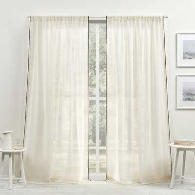 Lauren Solid Sheer Single Curtain Panel - Birch Lane