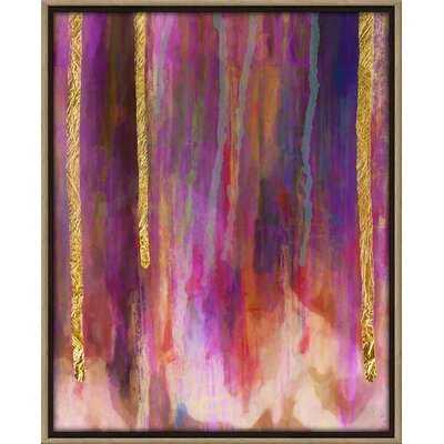 'Paint Drips' Framed Graphic Art on Canvas - Wayfair