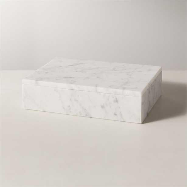 Extra Large White Marble Box - CB2