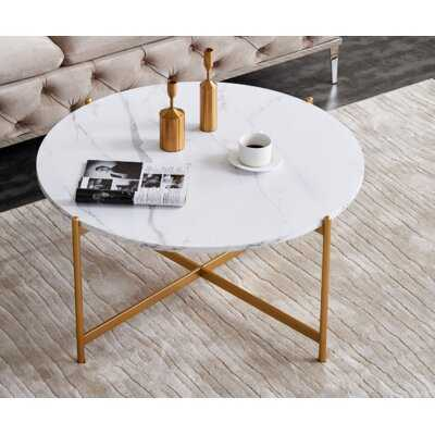 Modern Round Coffee Table - Wayfair