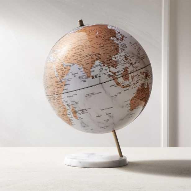 White Marble Globe - CB2