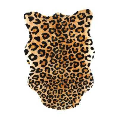 Polak Black/Brown Leopard Area Rug - Wayfair