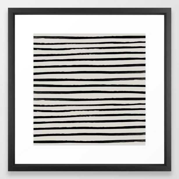 Zebra Framed Art Print by Leah Flores - Vector Black - MEDIUM (Gallery)-22x22 - Society6