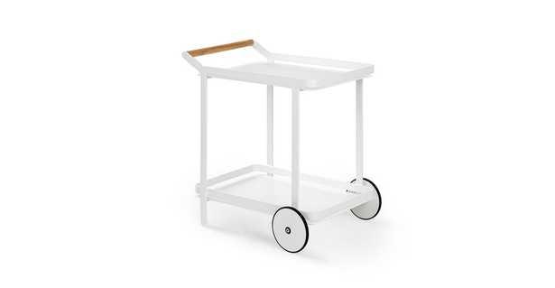 Boden White Bar Cart - Article