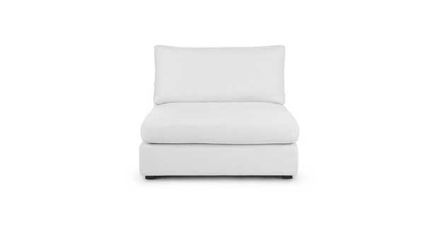 Beta Quartz White Armless Chair Module - Article