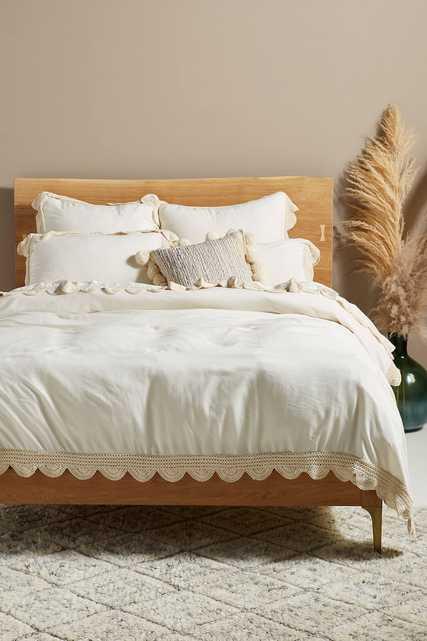 Tranquility Linen Blend Duvet Cover - Full - Anthropologie