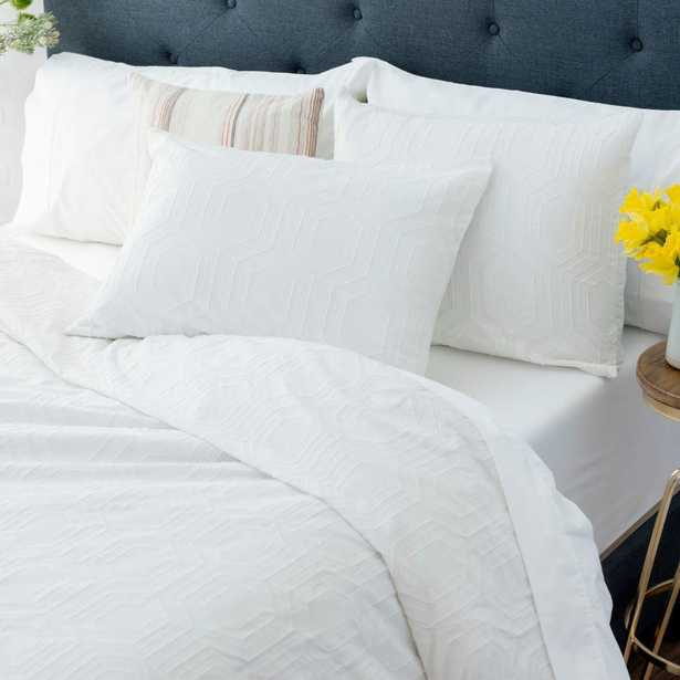 WELHOME The Sahara Cotton White King Comforter Set - Home Depot