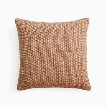 """Two Tone Chunky Linen Pillow Cover, 20""""x20"""", Copper, Set of 2 - West Elm"""