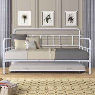 Metal Daybed With Twin Size Trundle Bed Steel Frame Sofa Bed With Pull-Out Trundle For Kids Teens And Adults No Box Spring Required - Wayfair