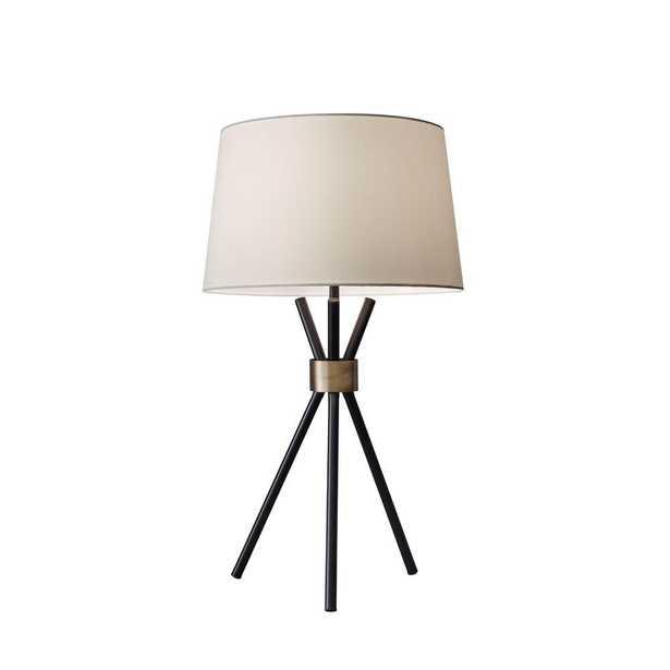 "Adesso Benson 25"" Black Table Lamp - Home Depot"