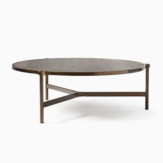 Mateo Collection Cerused Black Oil Rubbed Bronze 40 Inch Coffee Table - West Elm