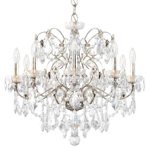 Schonbek Century 9-Light Candle Style Classic / Traditional Chandelier Finish: Antique Silver - Perigold
