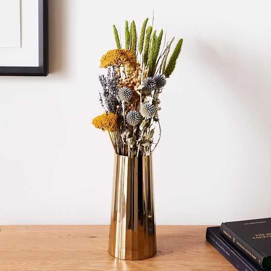 Dried Thistle Yarrow Lavender Bouquet - West Elm