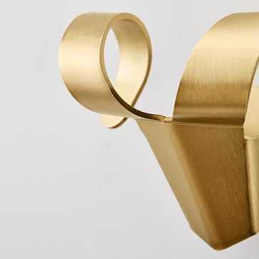 Animal Hooks, Antique Brass, Set of 3 - West Elm