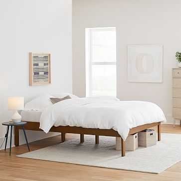 Simple Tall Bed Frame, King, Acorn - West Elm