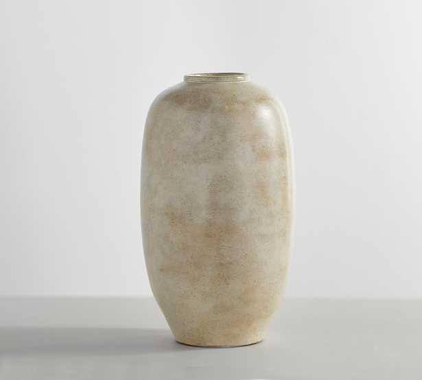 Artisan White Vase Collection, Tall Round, White - Pottery Barn