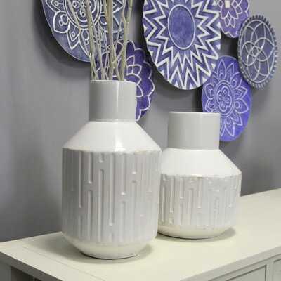 Atharv Metal 2 Piece Table Vase Set - Wayfair