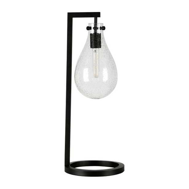 Hudson&Canal Weston 25 in. Seeded Glass Table Lamp in Brass - Home Depot