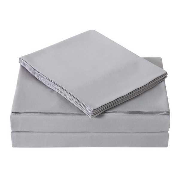 Everyday Grey Queen Sheet Set - Home Depot