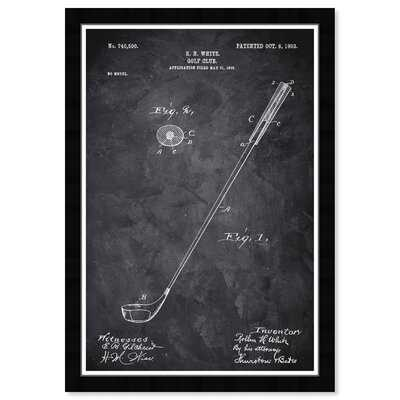 Golf Club 1903 Chalkboard - Picture Frame Graphic Art Print on Paper - Wayfair