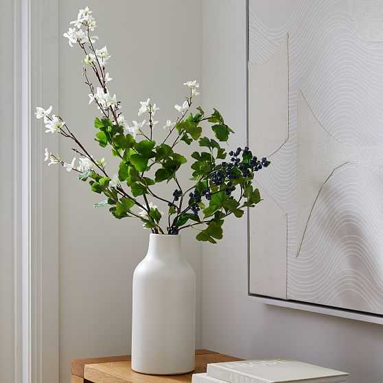 Faux Blueberry Ginkgo and Forsythia Branch Bouquet - West Elm