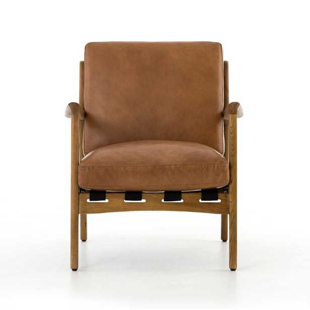Four Hands Silas Armchair Upholstery Color: Brown, Leg Color: Brown - Perigold