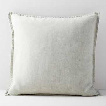 """European Flax Linen Pillow Cover, 24""""x24"""", Natural - West Elm"""