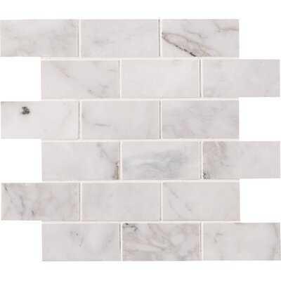 """Madeline Honed 2"""" x 4"""" Marble Subway Tile - AllModern"""