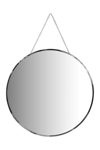 Round Frameless Wall Mirror with Decorative Chain - Nomad Home