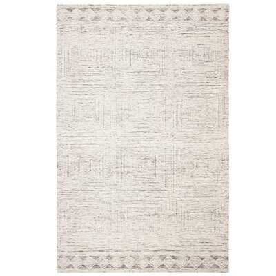 Dibble Handmade Tufted Wool Gray Area Rug - 9x12 - Wayfair