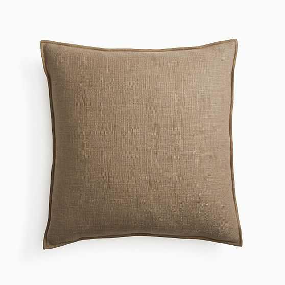 """Classic Linen Pillow Cover, 20""""x20"""", Mocha - West Elm"""