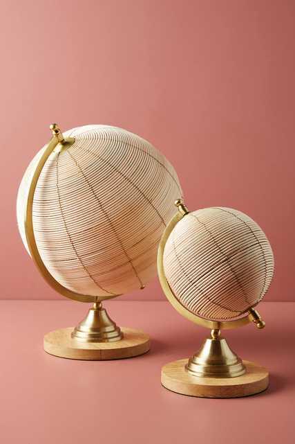 Rattan Globe Decorative Object - Small - Anthropologie